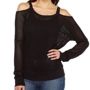 Like New Project Social T Sid Cold Shoulder Mesh